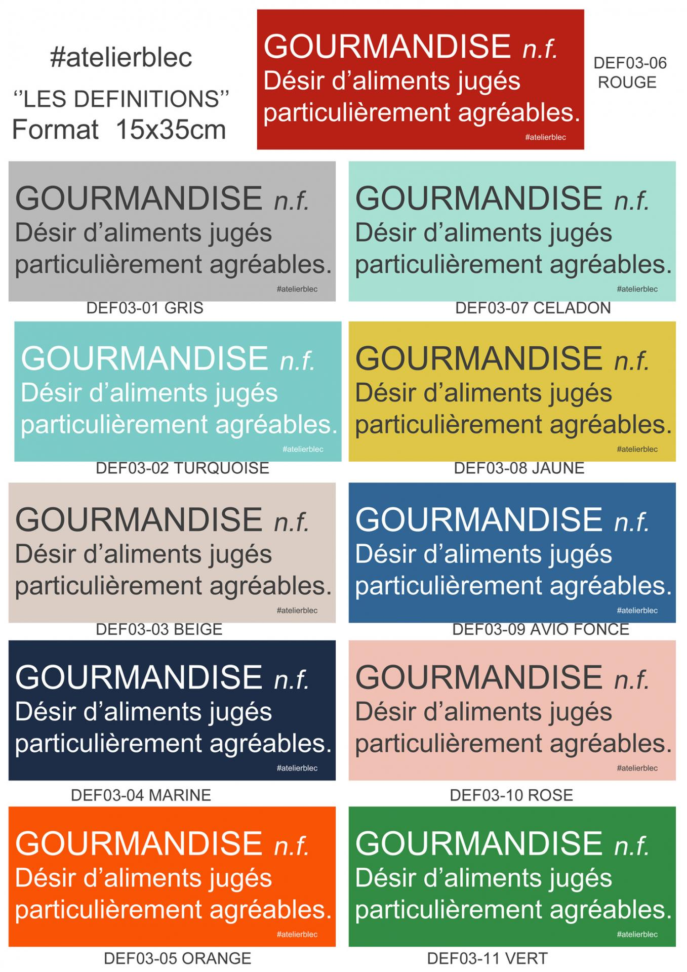 DEF03 Gourmandise 180